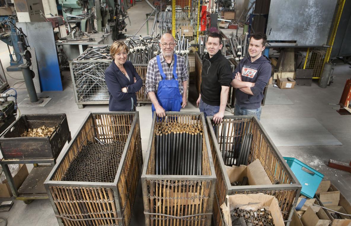 Belgie, Egem. Pittem, 7-5-2015. Fietsfabriek Dija Oostcolor produceert fietsen met het merk Achielle